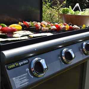 PUERTA LUNA - Barbecue au gaz, simple et efficace.