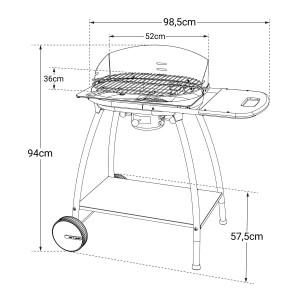 ISY FONTE 2 - Barbecue au charbon, utile et pratique.